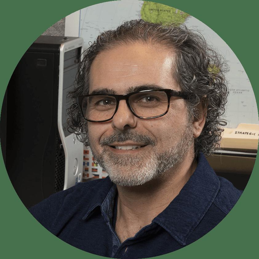Headshot of author Sam Manzella